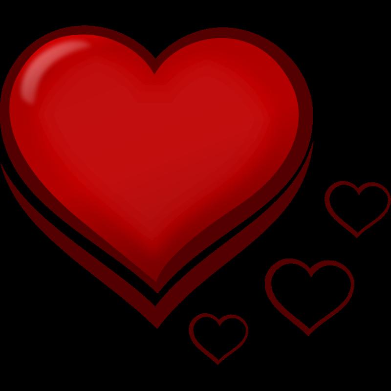 Free romantic pics download. Elegant heart clipart
