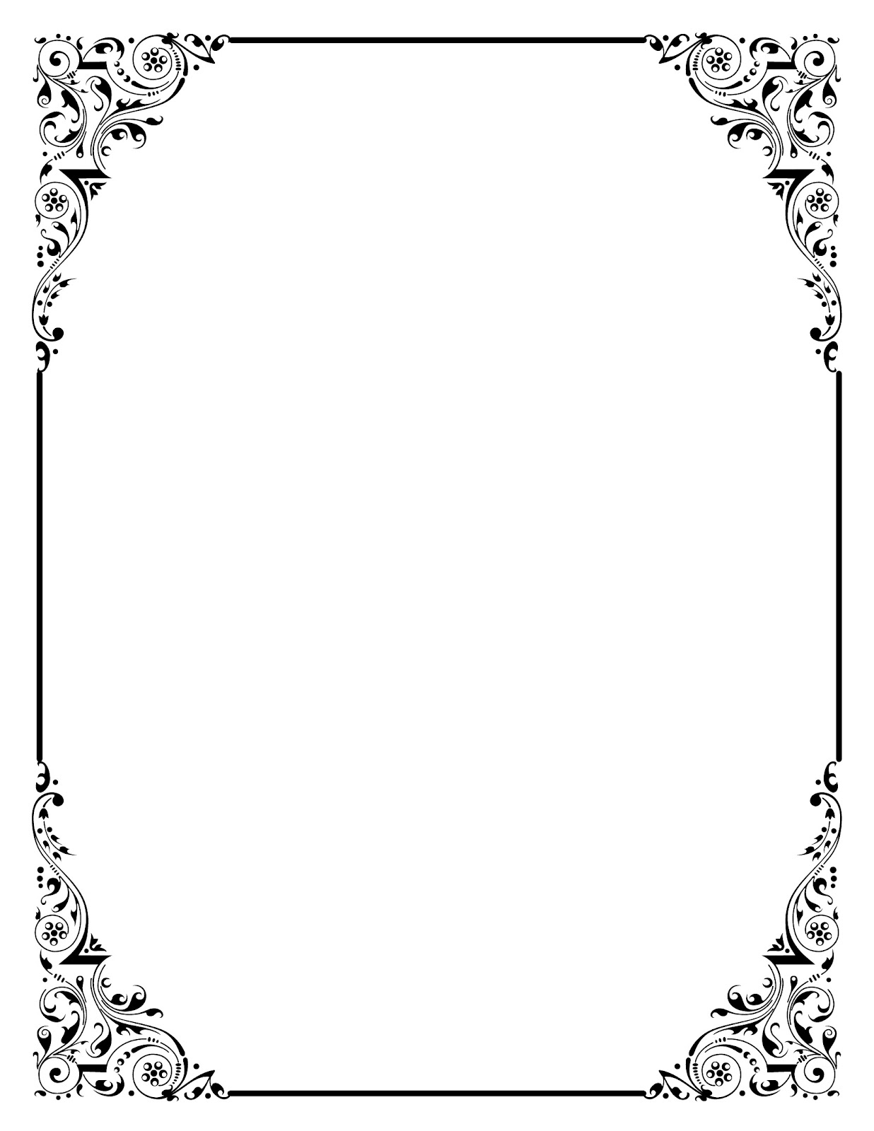 Elegant page borders clipart download 17 Best images about frame on Pinterest | Clip art, Graphics and ... download