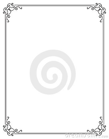 Elegant page borders clipart graphic black and white stock Fancy Page Border Two Royalty Free Stock Photo - Image: 4243355 graphic black and white stock