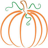 Elegant pumpkin clipart transparent Swirly pumpkin clipart - ClipartFest transparent