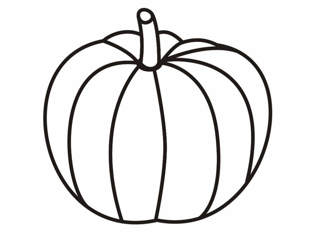 Elegant pumpkin clipart png download Elegant Pumpkin Color Sheet - Kids Coloring Pages png download