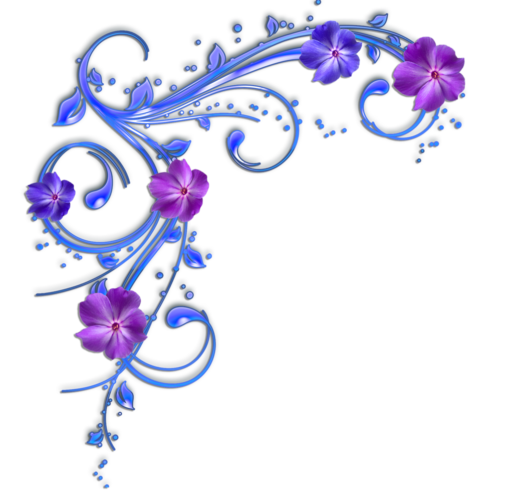 Elegant purple flower clipart freeuse 2ba116703c91.png | Pinterest | Corner, Clip art and Borders free freeuse