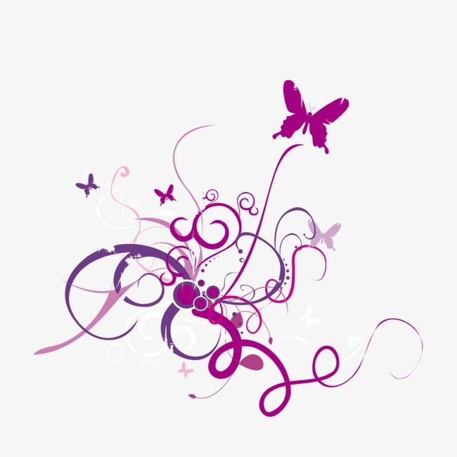 Elegantbutterfly clipart image transparent Download Free png Decorative Pattern, Purple, Elegant, Butterfly PNG ... image transparent