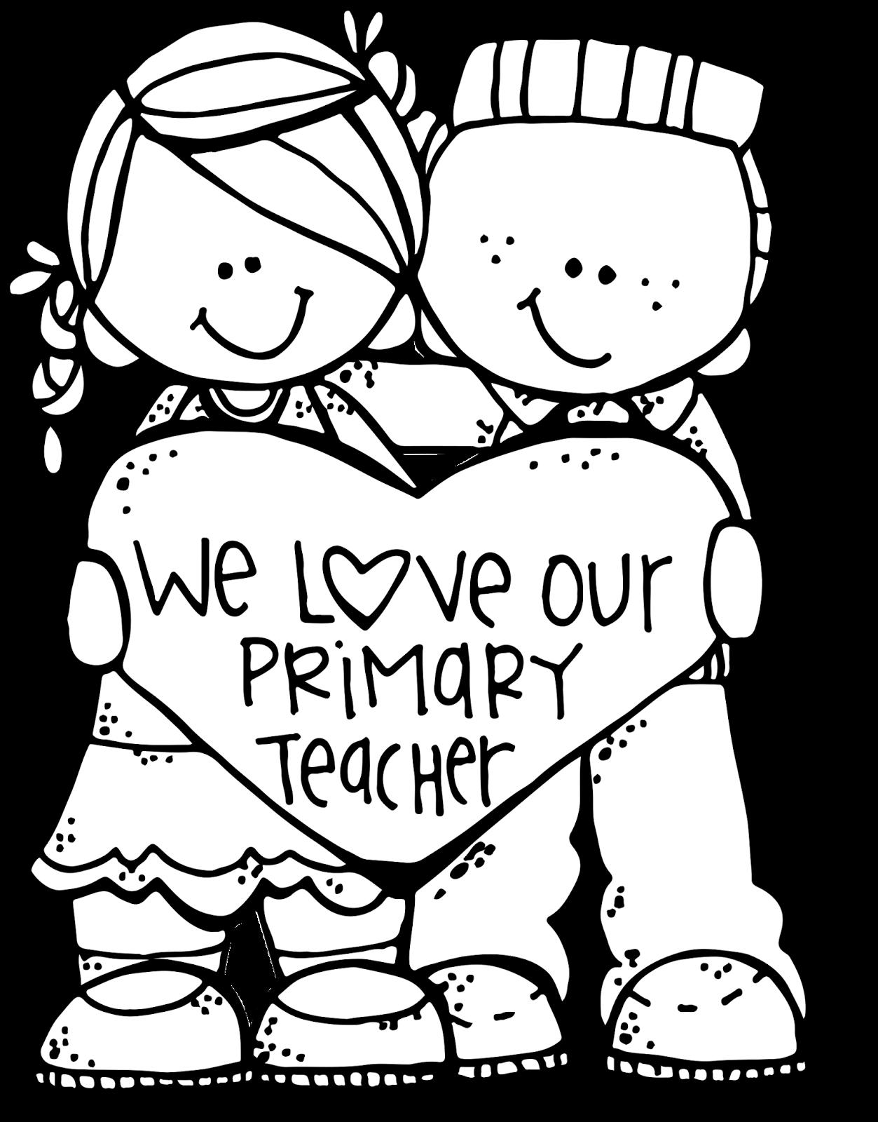 Elementary school clipart black and white banner download Love+Primary+teacher+MHLDSF+%28c%29+Melonheadz+Illustrating+LLC+2016 ... banner download