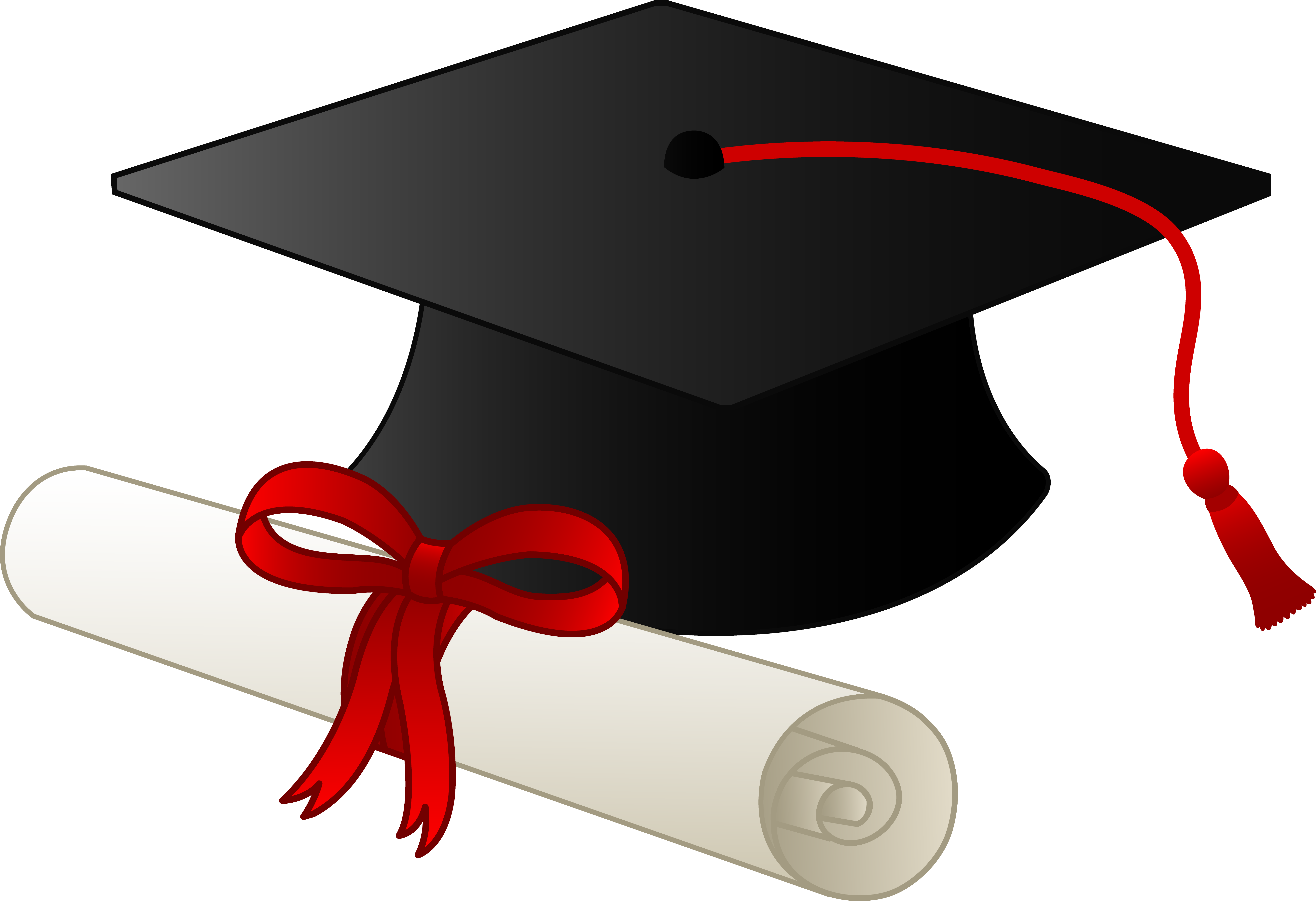 High school graduate clipart picture free stock Graduation Clip Art Borders | Graduation Cap and Diploma - Free Clip ... picture free stock