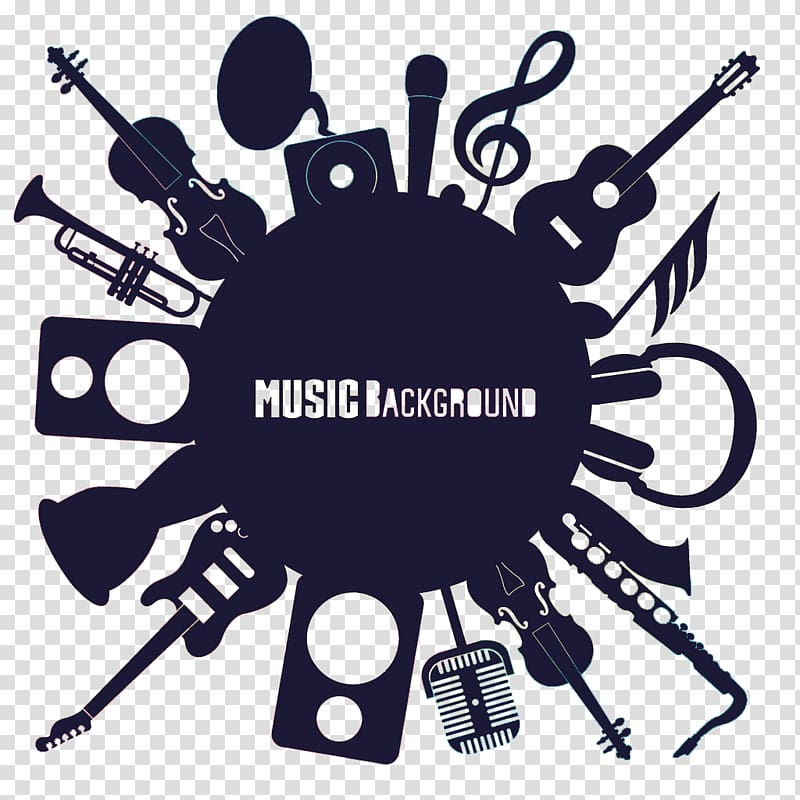 Elements of music clipart image freeuse stock Music Background logo, Musical instrument Illustration, Musical ... image freeuse stock
