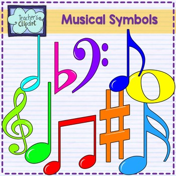 Elements of music clipart picture black and white download Musical clipart {Music elements clip art} picture black and white download