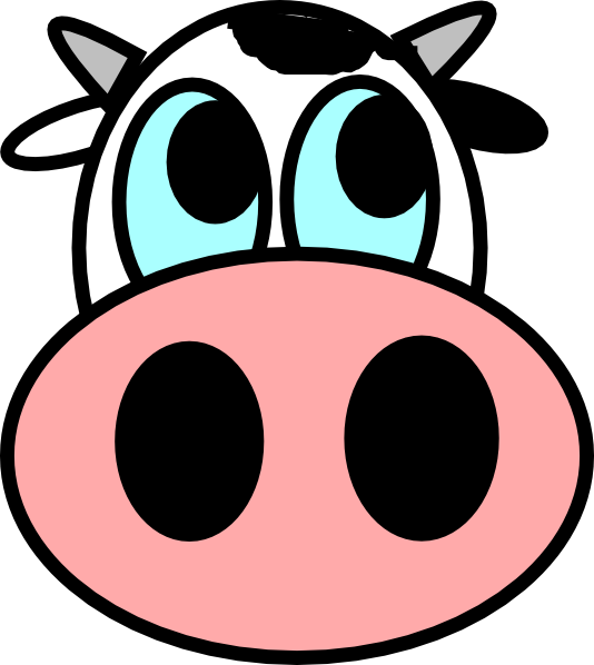Elephant and piggie trunk clipart pumpkin png stock cow-face | Art of Being Cow | Pinterest | Cow face, Cow and Face png stock