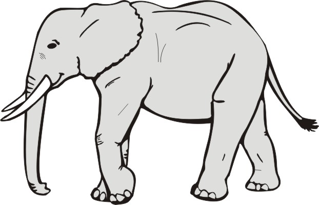 Elephant Clip Art Black And White | Clipart Panda - Free Clipart ... image free library
