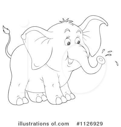 Elephant Clipart #1126929 - Illustration by Alex Bannykh vector freeuse download