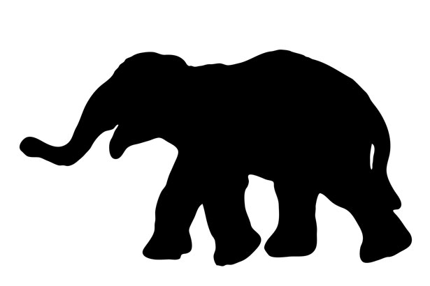 Silhouette Elephant Clipart - Clipart Kid graphic library download