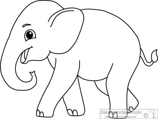 Elephant clip art outline - ClipartFest svg transparent