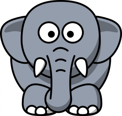 Elephant Clip Art Black And White | Clipart Panda - Free Clipart ... graphic black and white