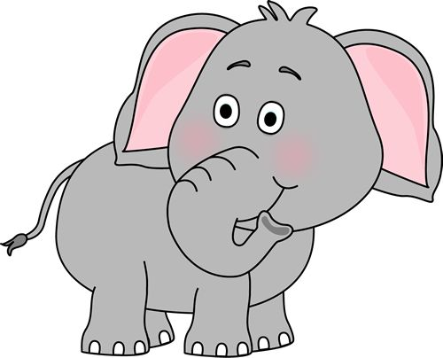 Cute Baby Elephant Clip Art | Elephant Looking Behind Clip Art ... picture royalty free