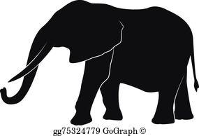 Elephant clipart silhouette vector transparent Elephant Silhouette Clip Art - Royalty Free - GoGraph vector transparent