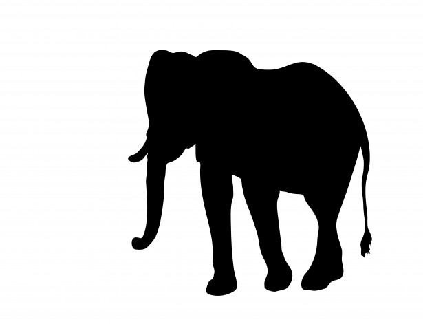 Elephant clipart silhouette png freeuse library Elephant Clipart Silhouette Free Stock Photo - Public Domain Pictures png freeuse library