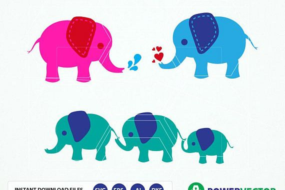 Elephant family clipart svg transparent stock Elephant SVG Files. Elephant Family Vector Clipart Svg, Dxf, Eps, Png Files svg transparent stock