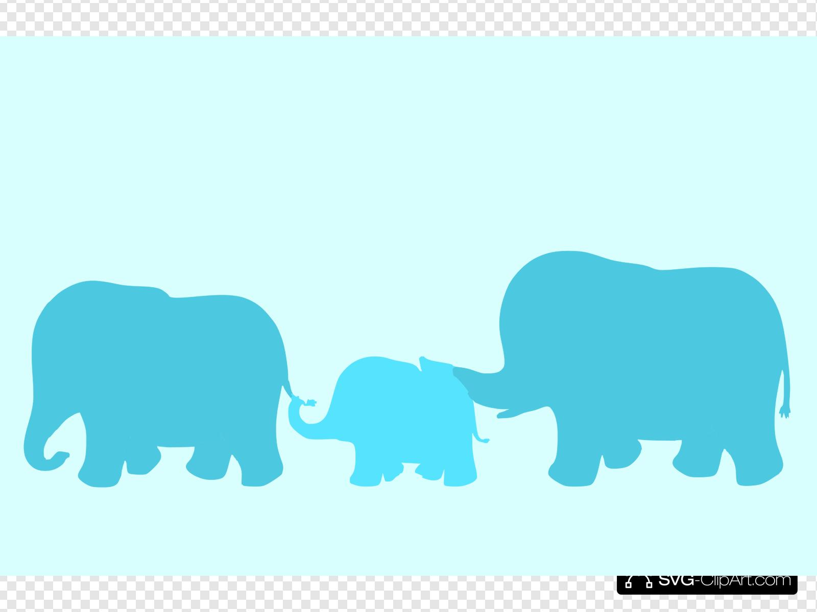 Elephant family clipart clip freeuse library Elephant Family Cartoon Clip art, Icon and SVG - SVG Clipart clip freeuse library