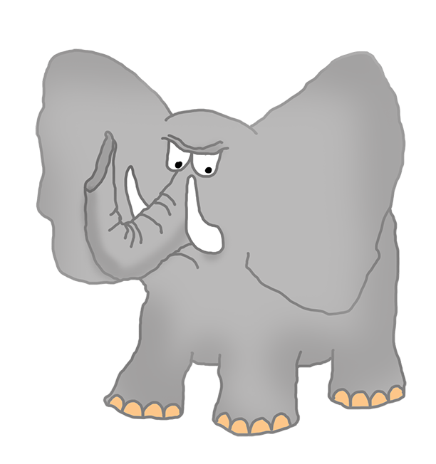 Elephant reading a book clipart clip art transparent download Elephant Clip Art clip art transparent download