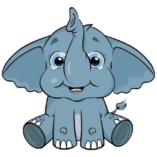 Elephant following elephant clipart clip black and white download Cute Baby Elephant Clip Art   Baby Elephant Page 3 - Cute Cartoon ... clip black and white download