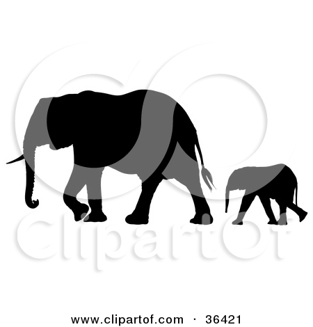 Elephant following elephant clipart svg black and white Royalty-Free (RF) Clipart Illustration of a Digital Collage Of ... svg black and white