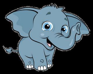 Elephant following elephant clipart clip black and white stock An elephant clipart - ClipartFest clip black and white stock