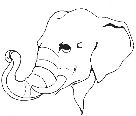 Elephant head clipart black and white vector free download Elephant Head Clipart Black And White - Gallery - Clip Art Library vector free download