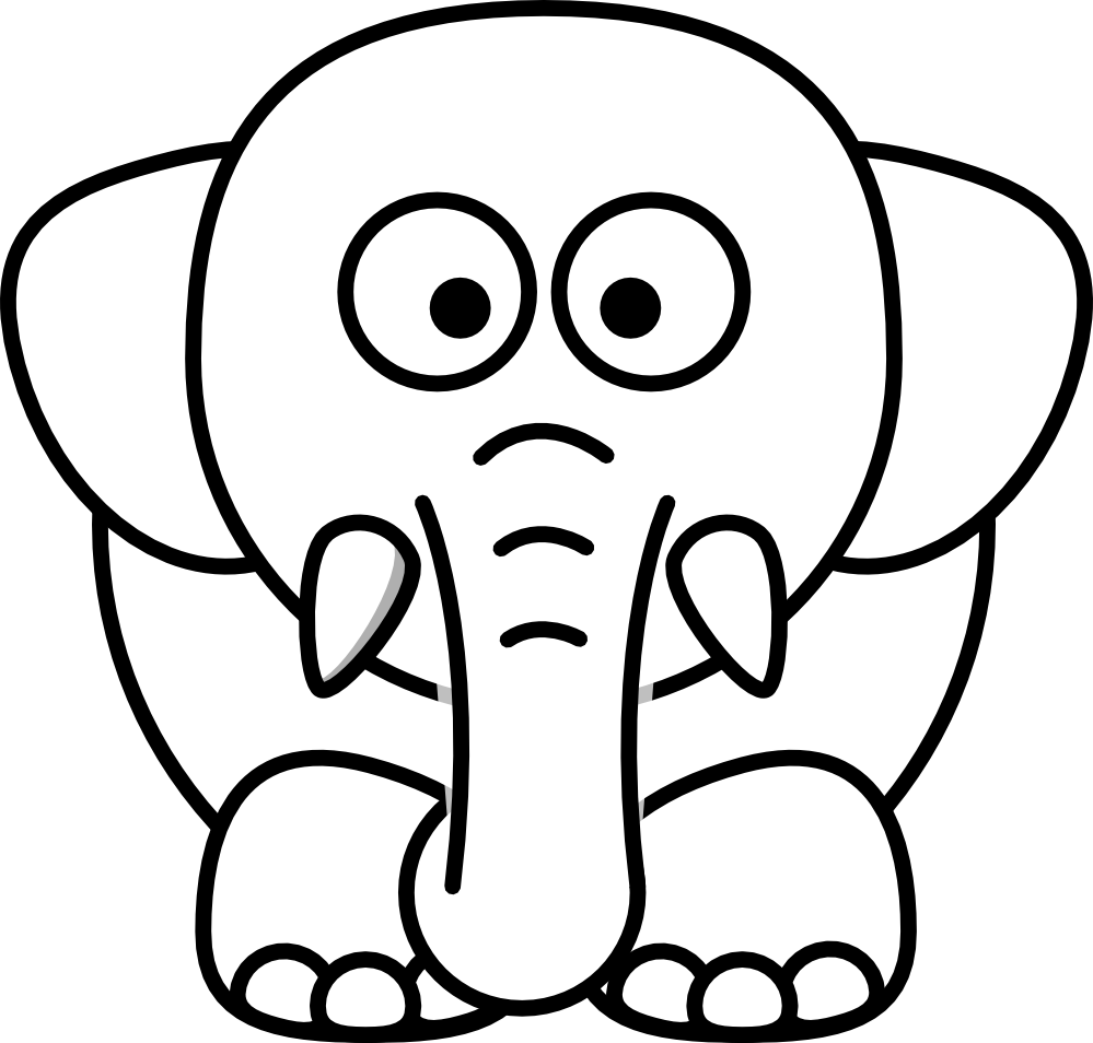 Elephant head clipart black and white banner transparent Elephant head clipart black and white clipart images gallery for ... banner transparent
