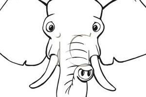 Elephant head clipart black and white clip stock Elephant head clipart black and white » Clipart Portal clip stock