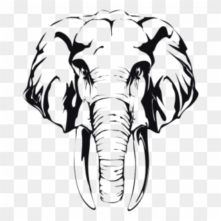Elephant head clipart black and white banner freeuse library Free PNG Elephant Head Clip Art Download - PinClipart banner freeuse library