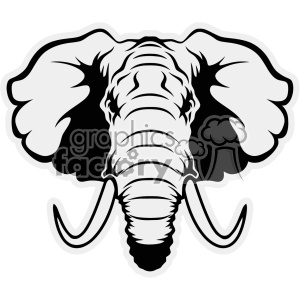 Elephant head clipart black and white svg library download elephant head vector cut files clipart. Royalty-free clipart # 403031 svg library download