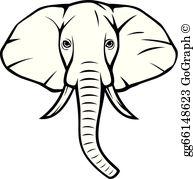 Elephant head clipart black and white clip art freeuse Elephant Head Clip Art - Royalty Free - GoGraph clip art freeuse