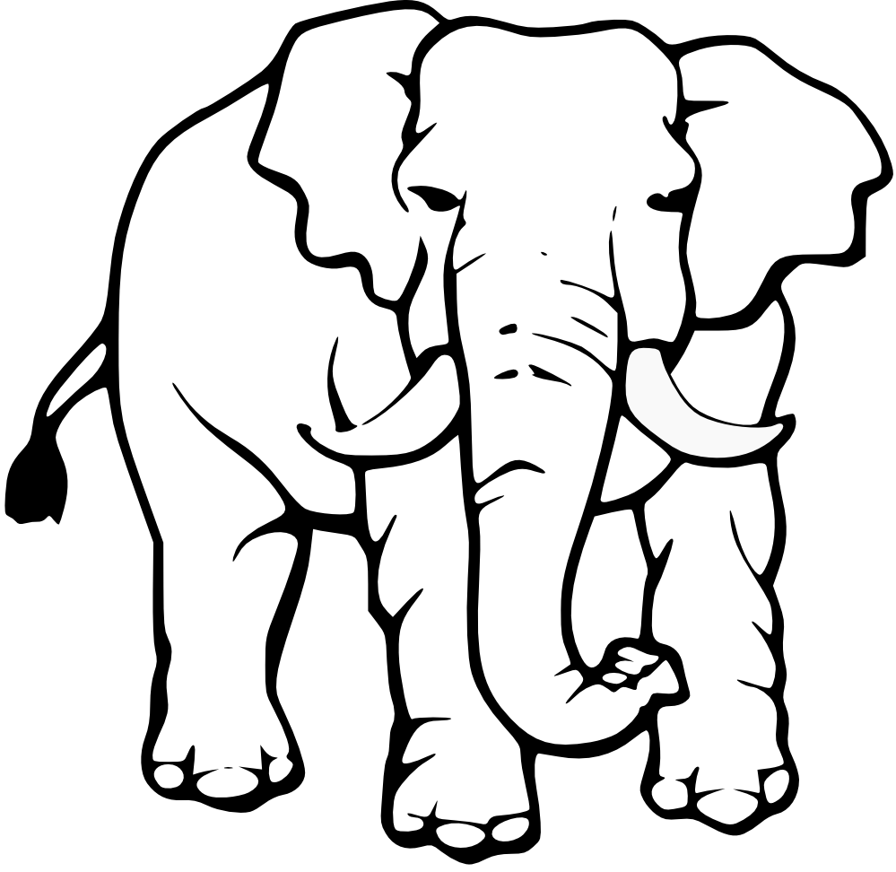 Grassland elephant clipart black and white banner free download Elephant Head Clipart Black And White | Clipart library - Free ... banner free download