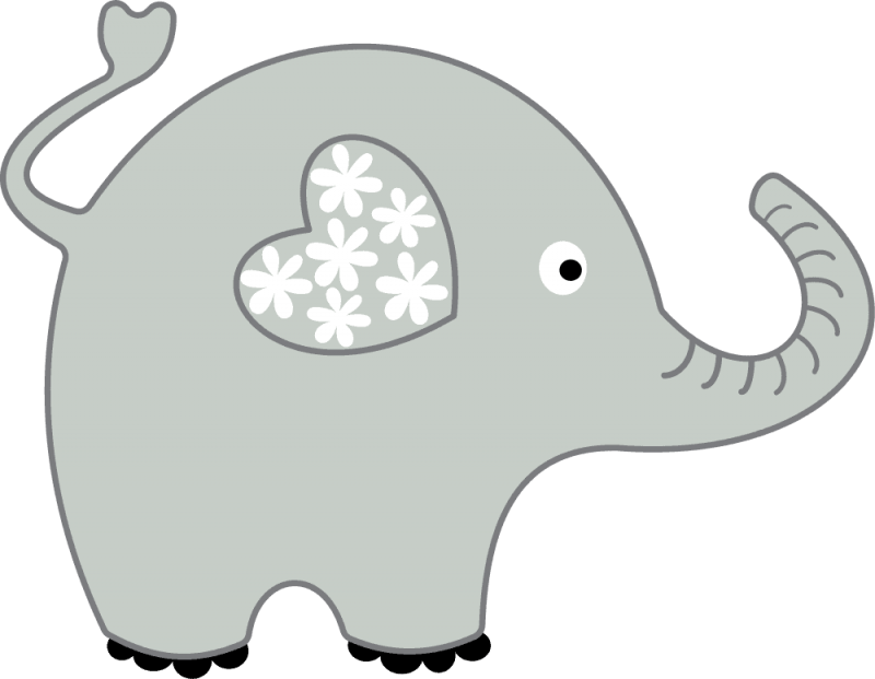 Cool of image gray. Elephant heart clipart