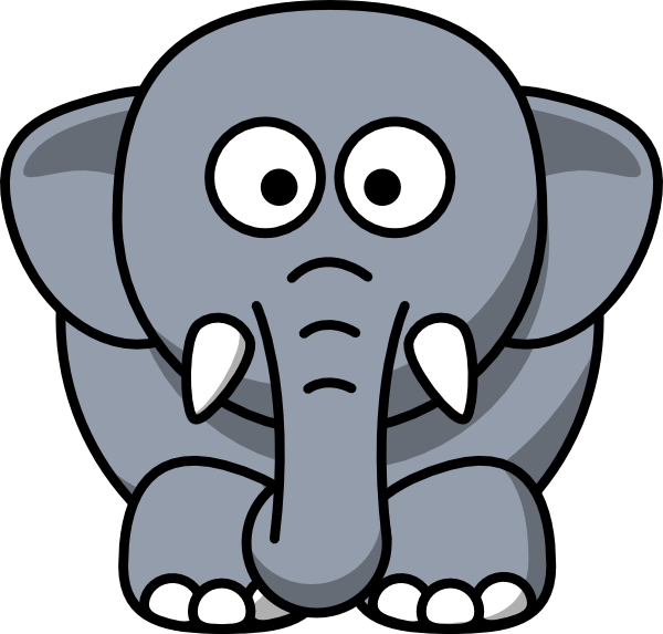 Cartoon Elephant Clipart at GetDrawings.com | Free for personal use ... graphic black and white library