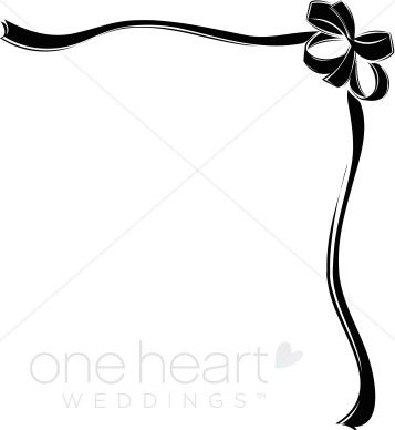 Elephant love clipart corner borders black and white freeuse stock black heart and bows corner borders | Black Ribbon Bow Border ... freeuse stock