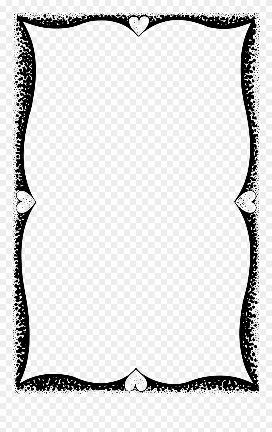 Elephant love clipart corner borders black and white picture transparent library Big Image - Love Frame Black And White Clipart (#387719) - PinClipart picture transparent library