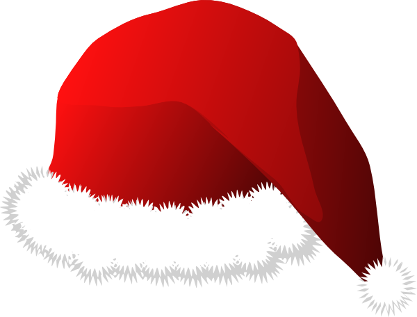 Elephant santa hat public domain clipart png black and white Free Santa Hat Clipart, Download Free Clip Art, Free Clip Art on ... png black and white