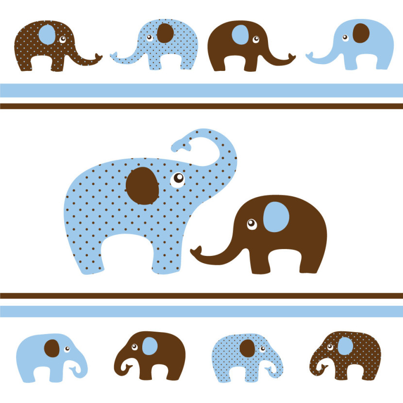 Elephant with baby elephant clipart