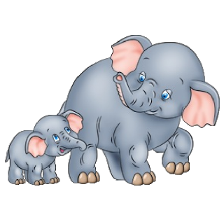 Elephant with baby elephant clipart banner free download Mother And Baby Elephant - Elephant Images banner free download