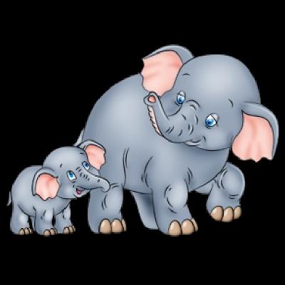 Elephant with baby elephant clipart jpg transparent Baby elephant clipart kid 4 - Clipartix jpg transparent