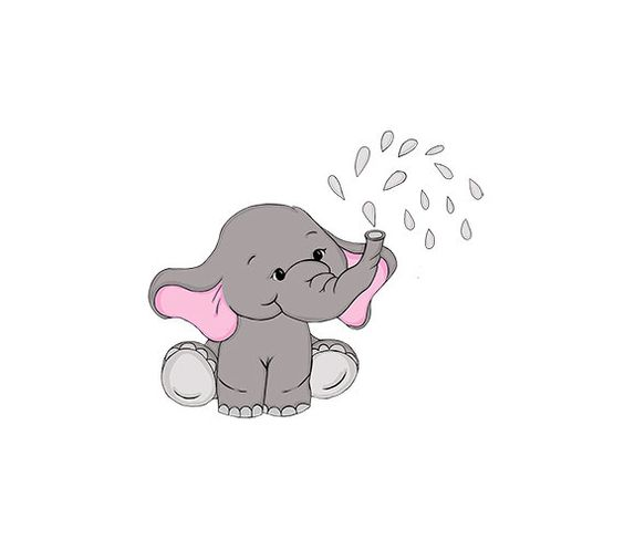Elephant with baby elephant clipart png Baby Elephant Hand Drawn Nursery / Baby Shower Art | 641 Digital ... png