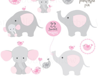 Elephant with baby elephant clipart picture freeuse Pink baby elephant clipart - ClipartFest picture freeuse