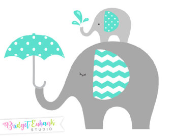 Elephant with baby elephant clipart banner free stock Elephant clipart | Etsy banner free stock