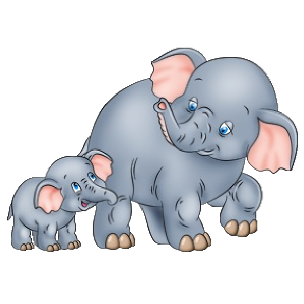Mama and baby elephant clip art clipart royalty free Mama baby elephant clipart - ClipartFest clipart royalty free
