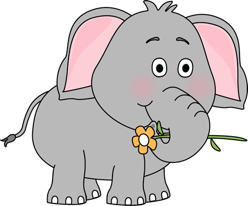 Elephant with hearts clipart stock Elephant Clip Art - Elephant Images stock