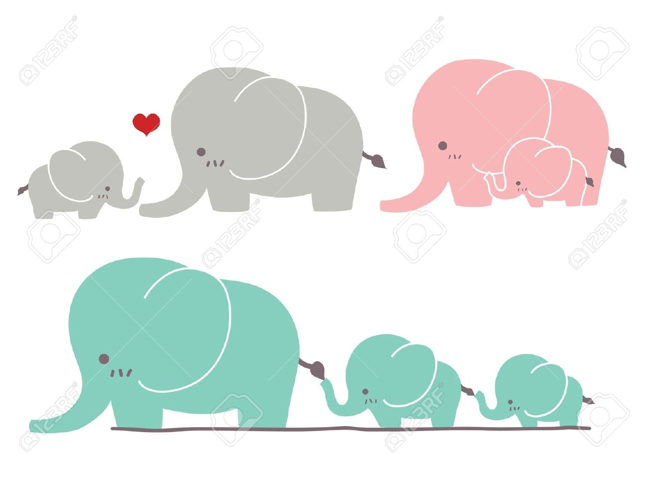 Elephant with hearts clipart banner library Cute elephant heart clipart - ClipartNinja banner library