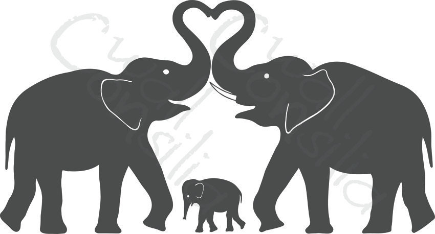 Elephant with hearts clipart svg library download Elephant making a heart clipart - ClipartFest svg library download