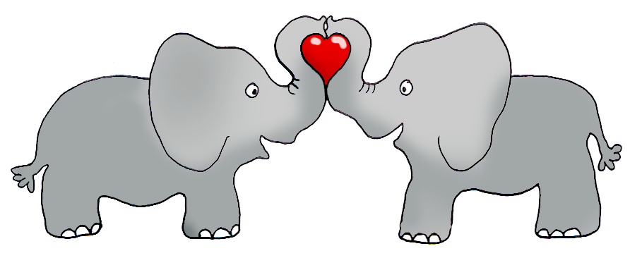 Elephant heart clipart
