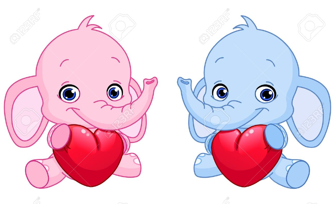 Elephant with hearts clipart clip download Clipart picture of slice of baby elephant - ClipartFest clip download
